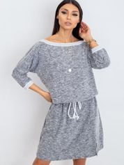 Szara sukienka Saffron