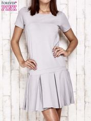 Szara sukienka dresowa z kokardami z tyłu