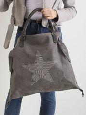 Szara torba z gwiazdą z dżetów