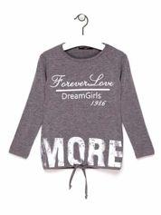 Szara tunika dla dziewczynki z napisem FOREVER LOVE