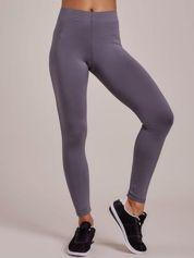 Szare długie cienkie legginsy do biegania