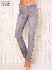Szare dopasowane spodnie ze stretchem