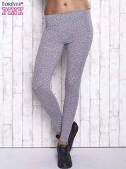 Szare melanżowe legginsy w kropki