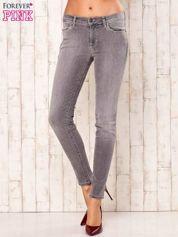 Szare przecierane spodnie regular