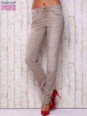 Szare spodnie z prostą nogawką