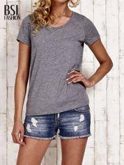 Szary melanżowy t-shirt basic