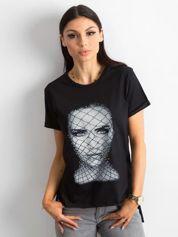 T-shirt z bawełny czarny