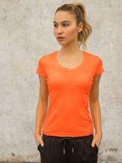 T-shirt z nadrukiem groszków pomarańczowy