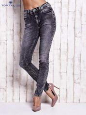 TOM TAILOR Ciemnoszare marmurkowe spodnie jeansowe slim