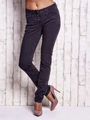 TOM TAILOR Ciemnoszare spodnie regular jeans z przeszyciami