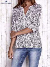 TOM TAILOR Jasnoróżowa koszula z podwijanymi rękawami wzór paisley