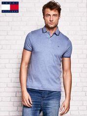 TOMMY HILFIGER Niebieska koszulka polo męska