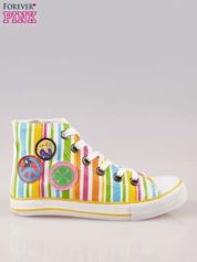 Trampki za kostkę w kolorowe paski w stylu hippie