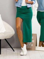 Zielona asymetryczna spódnica