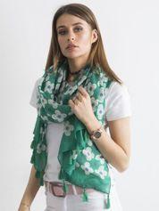 Zielona chusta w kwiaty