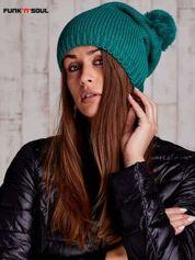 Zielona czapka z polarową wyściółką FUNK N SOUL