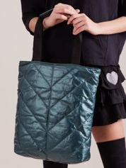 Zielona pikowana torba