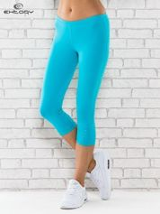 Zielone legginsy sportowe termalne z dżetami na nogawkach