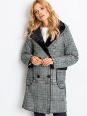 Zielono-czarny płaszcz Risk