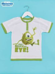 Zielont t-shirt chłopięcy z nadrukiem UNIWERSYTET POTWORNY