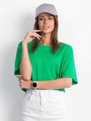 Zielony krótki t-shirt