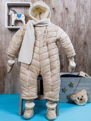 Zimowy kombinezon dziecięcy z futerkiem beżowy