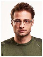 Złote korekcyjne okulary do czytania +3.0 D  z sytemem FLEX na zausznikach