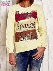Żółta bluza z napisem GLITTER SPARKLE SHINE