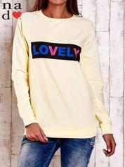 Żółta bluza z napisem LOVELY