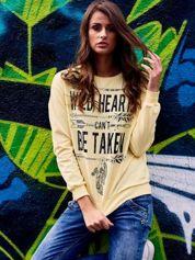 Żółta bluza z napisem WILD HEARTS CAN'T BE TAKEN