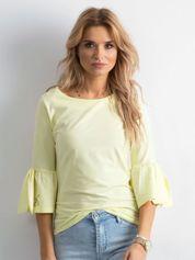Żółta bluzka damska z szerokimi rękawami