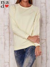 Żółta gładka bluza