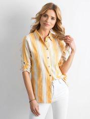Żółta koszula w paski