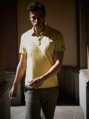 Żółta męska koszulka polo z kieszonką Funk n Soul