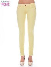 Żółte spodnie jeansowe typu rurki