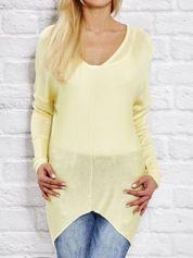 Żółty sweter oversize