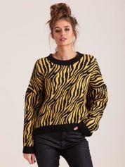 Żółty sweter zebra