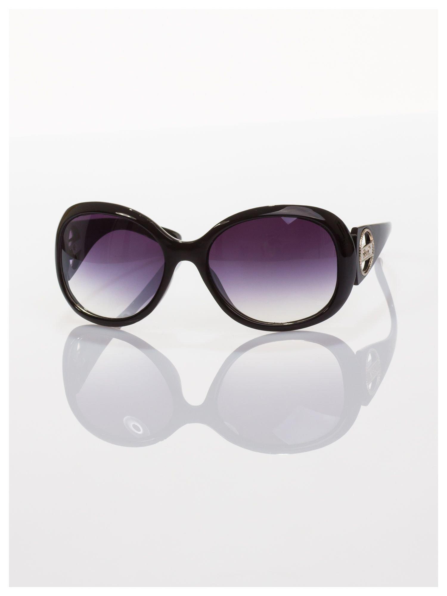 Czarne klasyczne duże okulary blogerek MUCHY                                  zdj.                                  1
