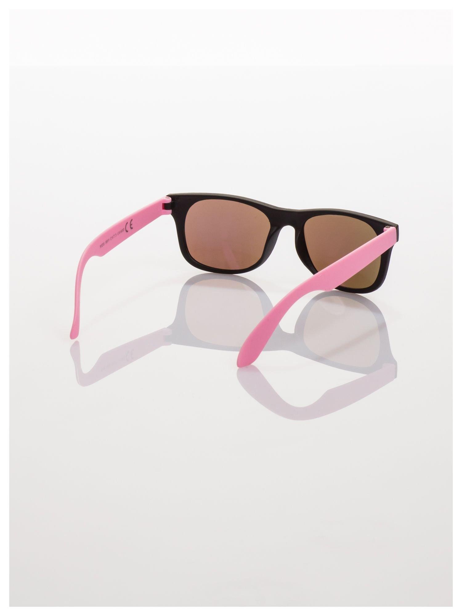 Dziecięce lustrzanki z filtrami UV okulary z klasyczną oprawką WEYFARER NERD odporne na wyginania                                  zdj.                                  3