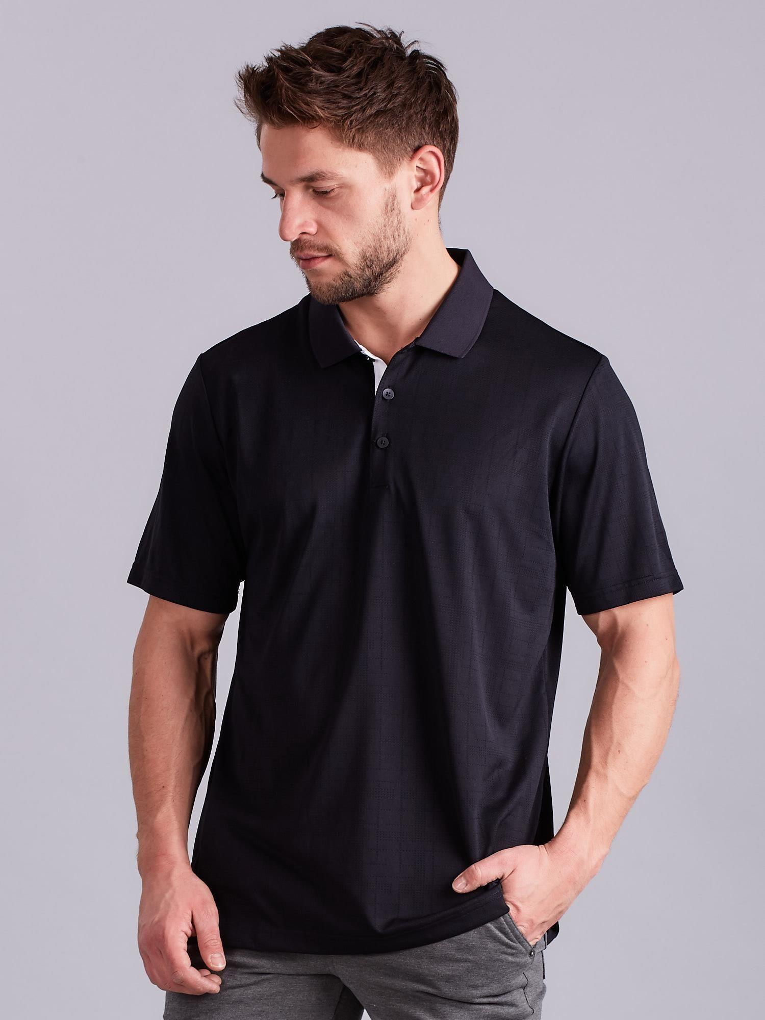 26601b79dabb31 ADIDAS Czarna męska koszulka polo - Mężczyźni koszulka polo męskie ...