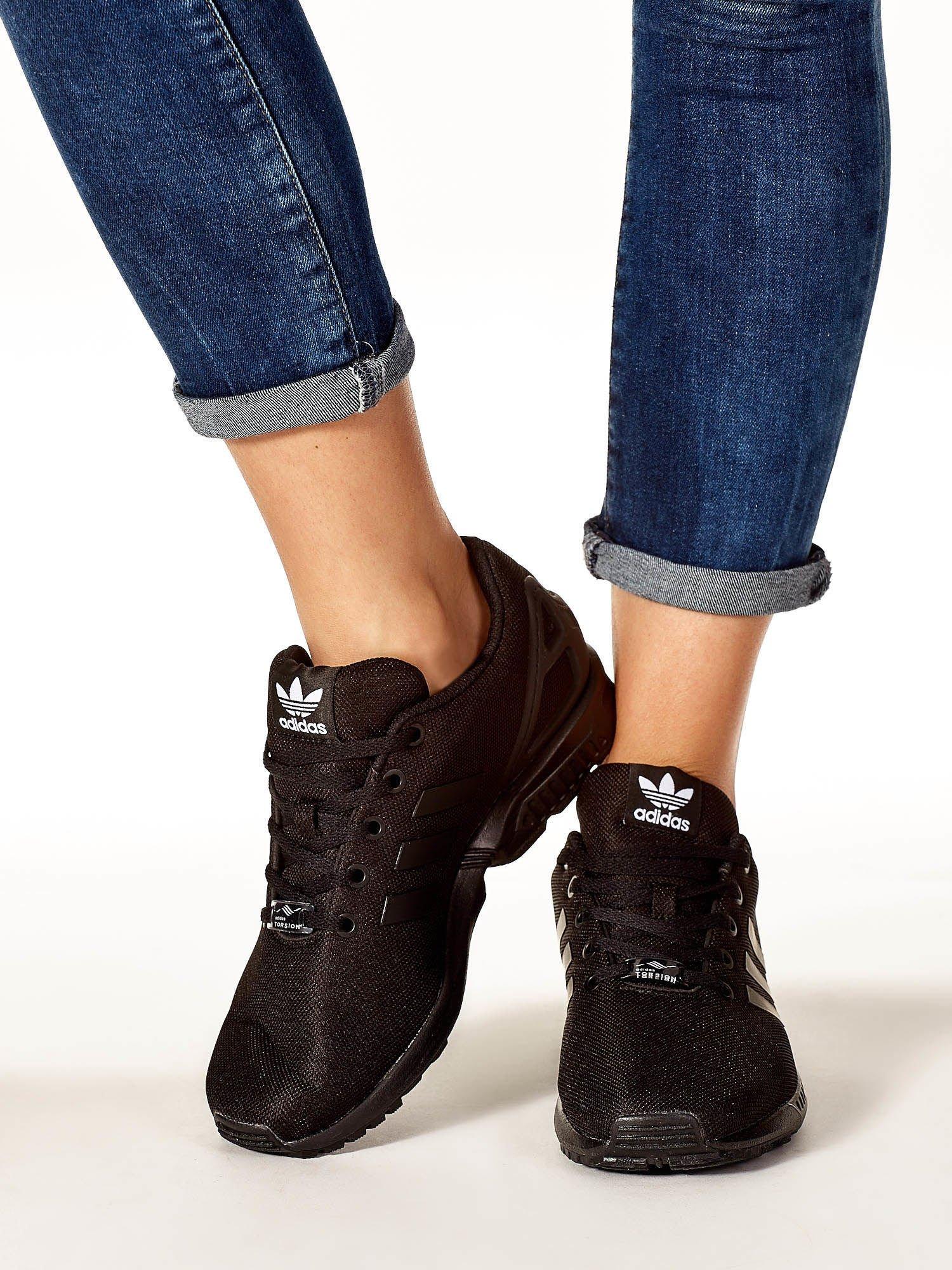 520b78cb ADIDAS Czarne buty sportowe o wyrazistej fakturze - Buty Buty ...