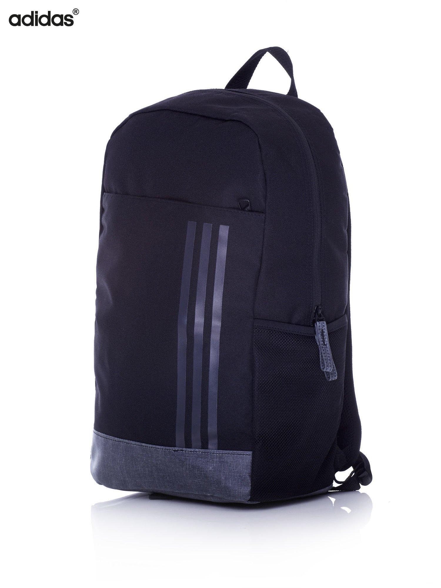81e77b1e2a5e1 ADIDAS Czarny plecak szkolny z bocznymi kieszonkami - Dziecko ...