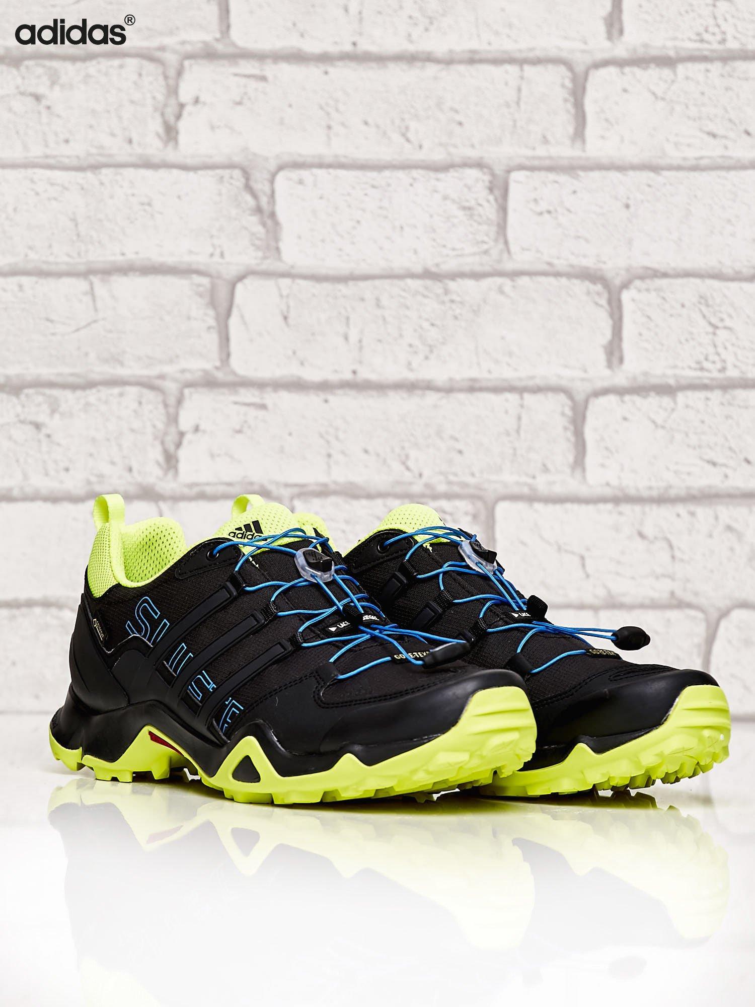 ADIDAS czarne buty męskie TERREX SWIFT R GTX z kontrastowymi elementami