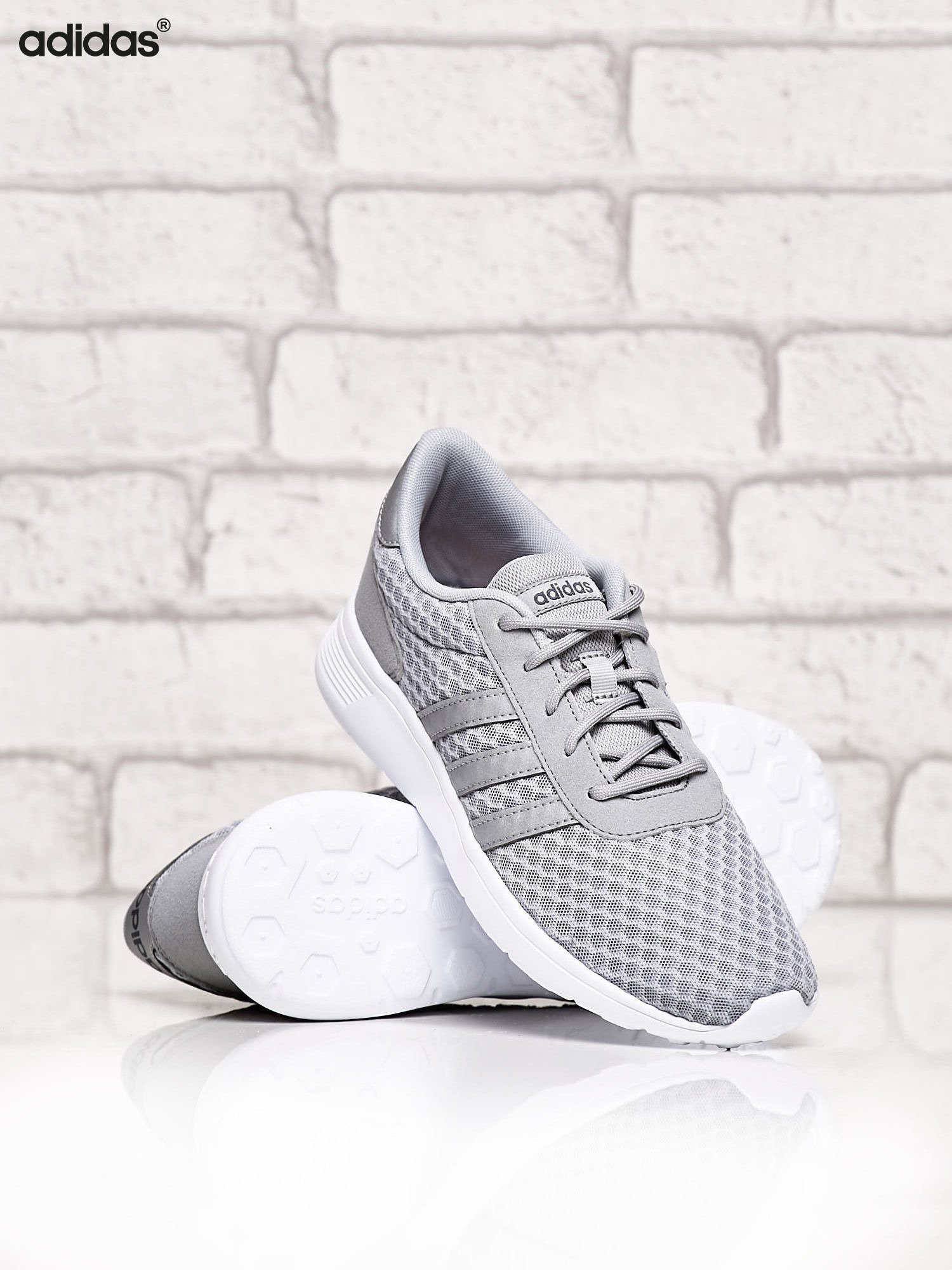 ADIDAS srebrne buty sportowe LITE RACER W ze wzorem                                  zdj.                                  3