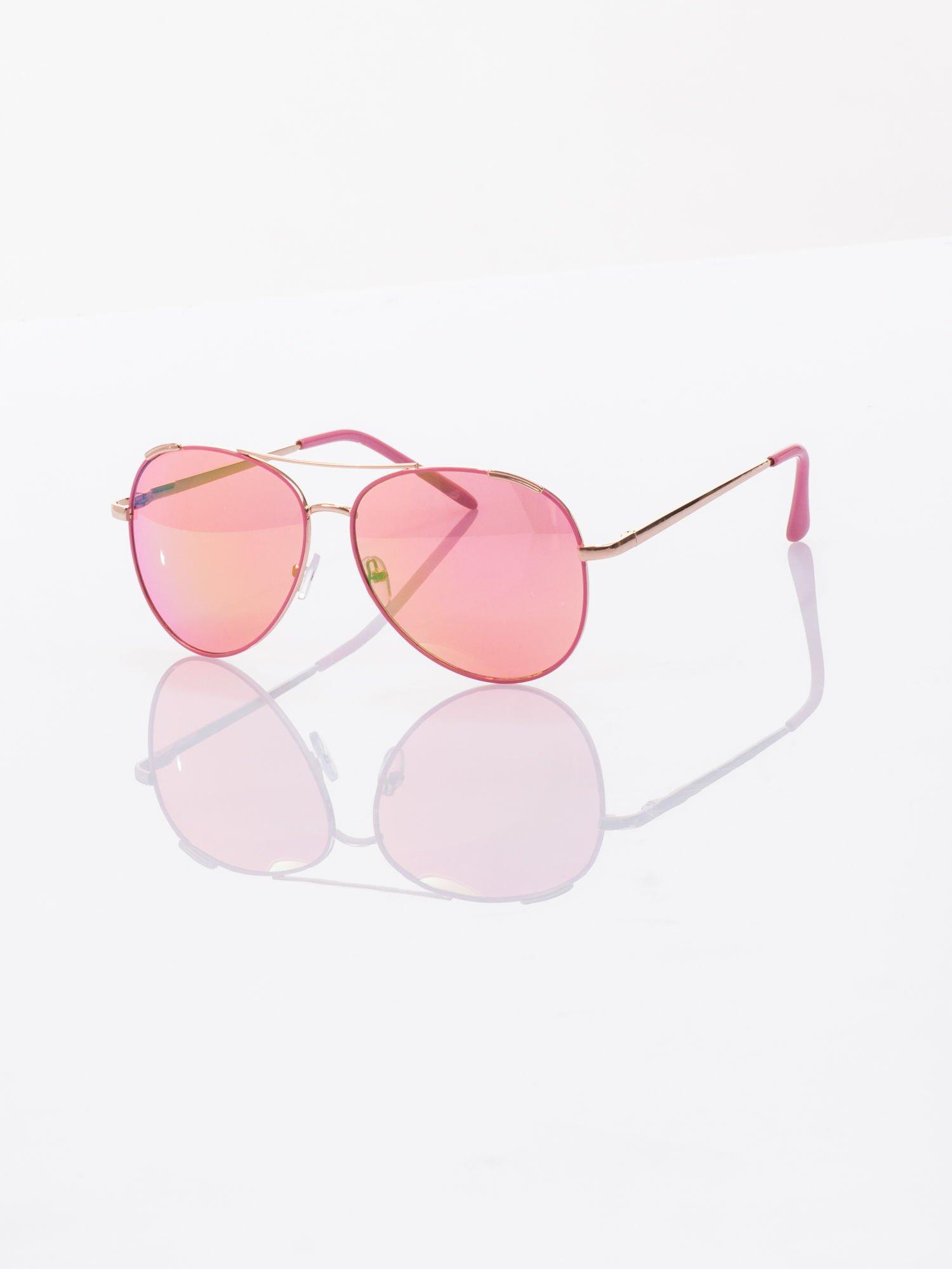 AVIATOR różowe okulary przeciwsłoneczne pilotki                                  zdj.                                  1