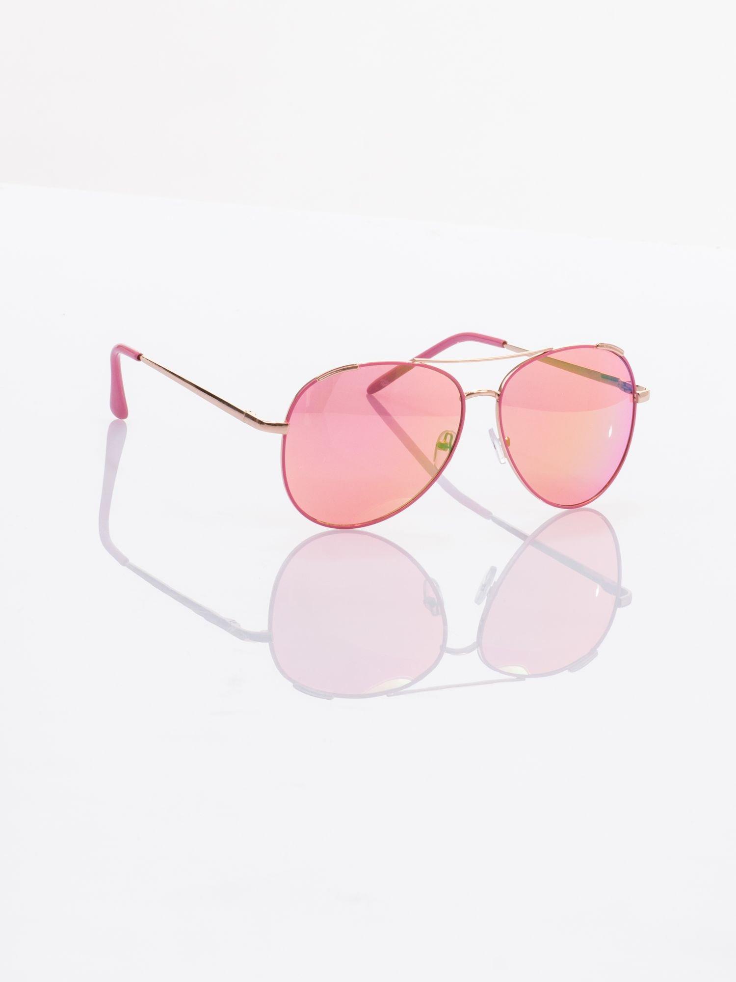AVIATOR różowe okulary przeciwsłoneczne pilotki                                  zdj.                                  2