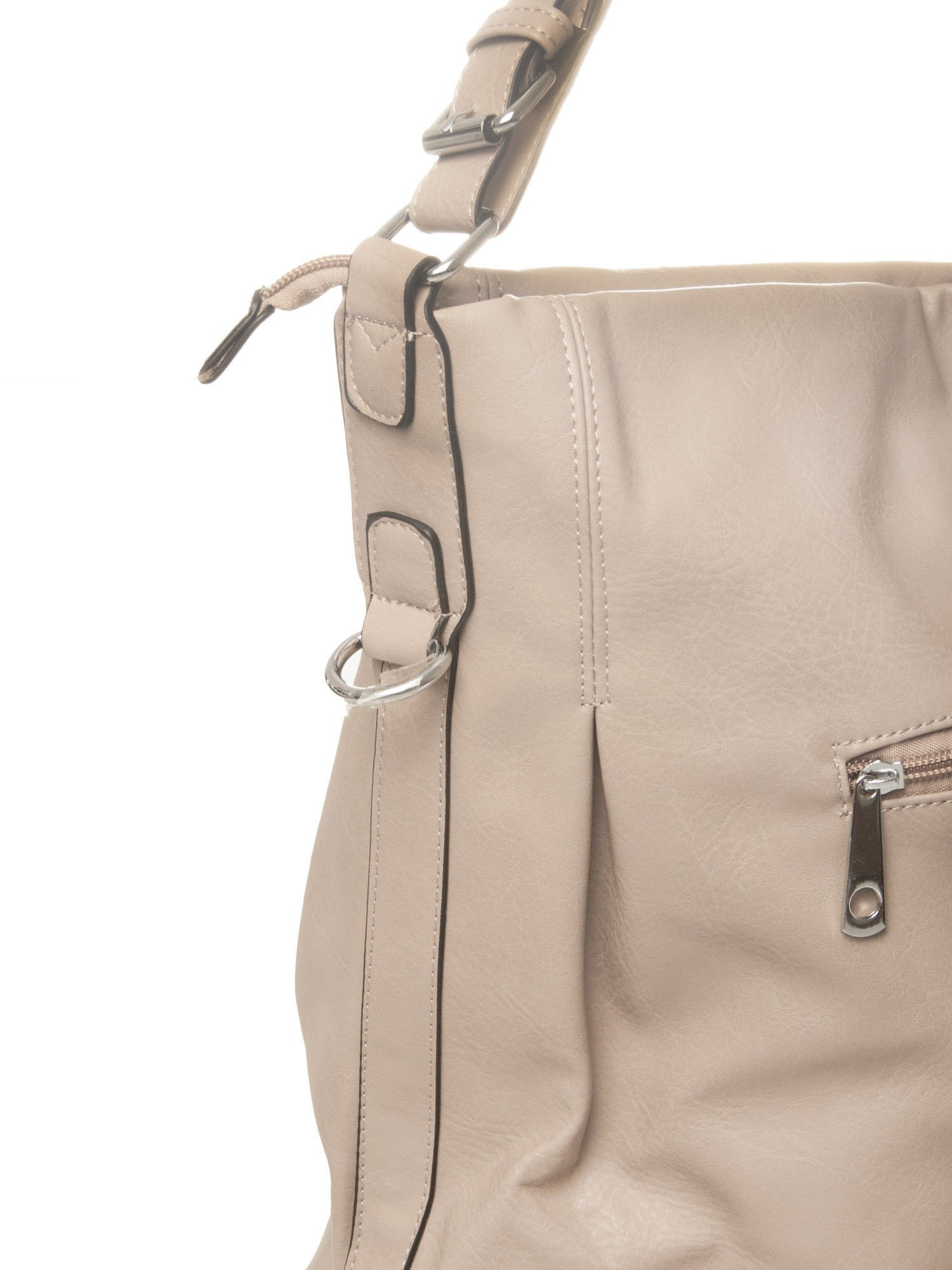 Beżowa torebka hobo na ramię                                  zdj.                                  3