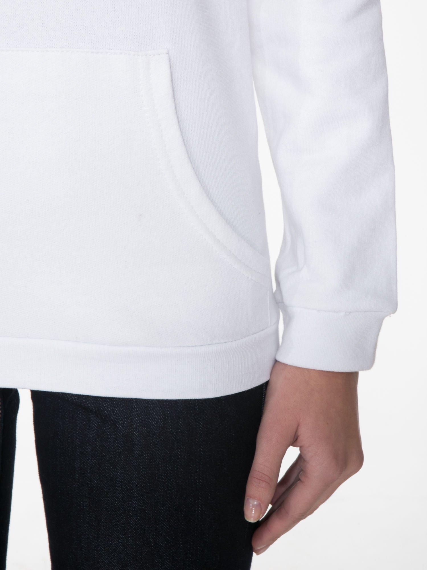 Biała  bluza kangur z kapturem i nadrukiem FÉLINE MEOW                                  zdj.                                  6