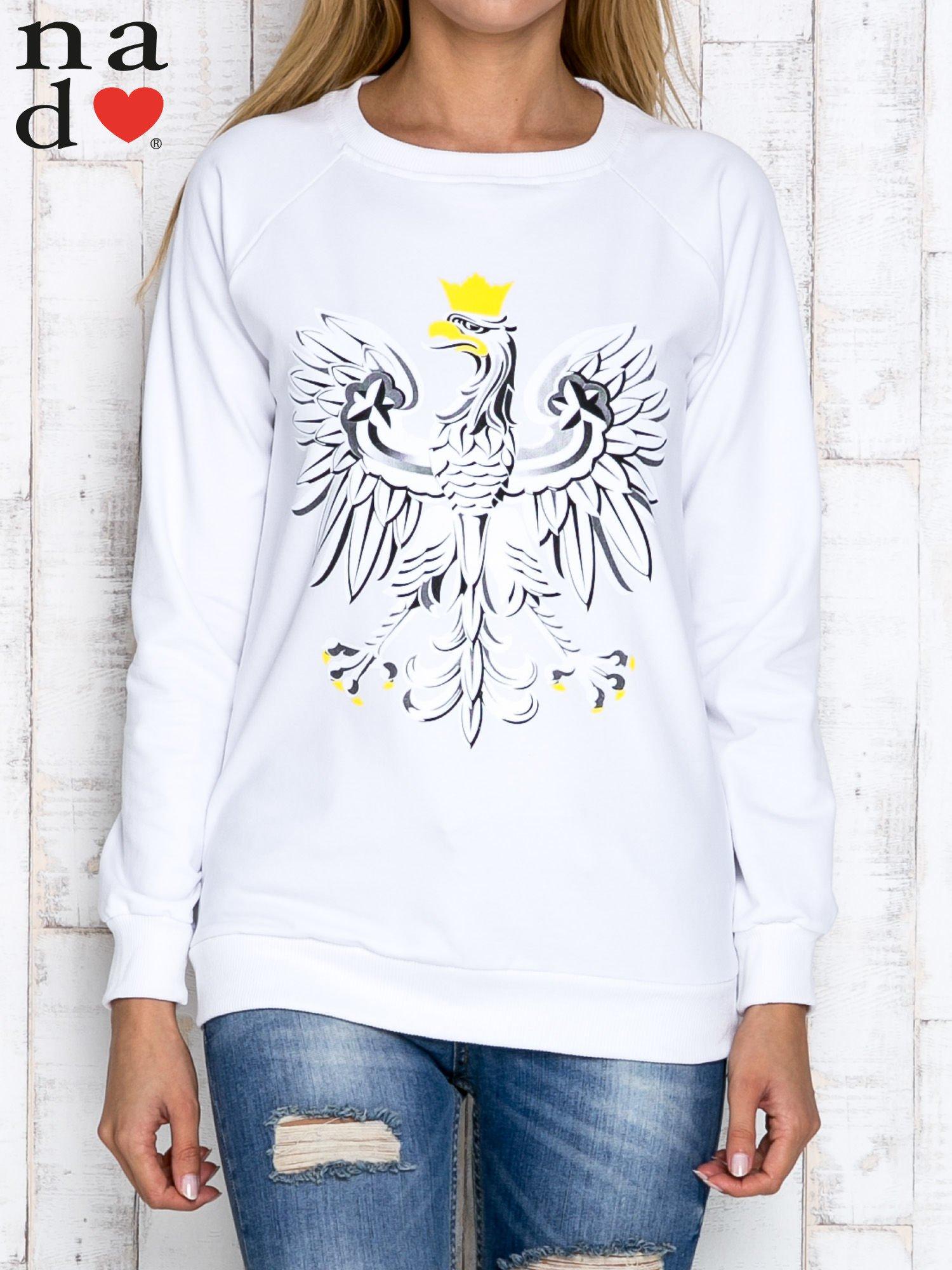 Biała bluza z godłem                                  zdj.                                  1
