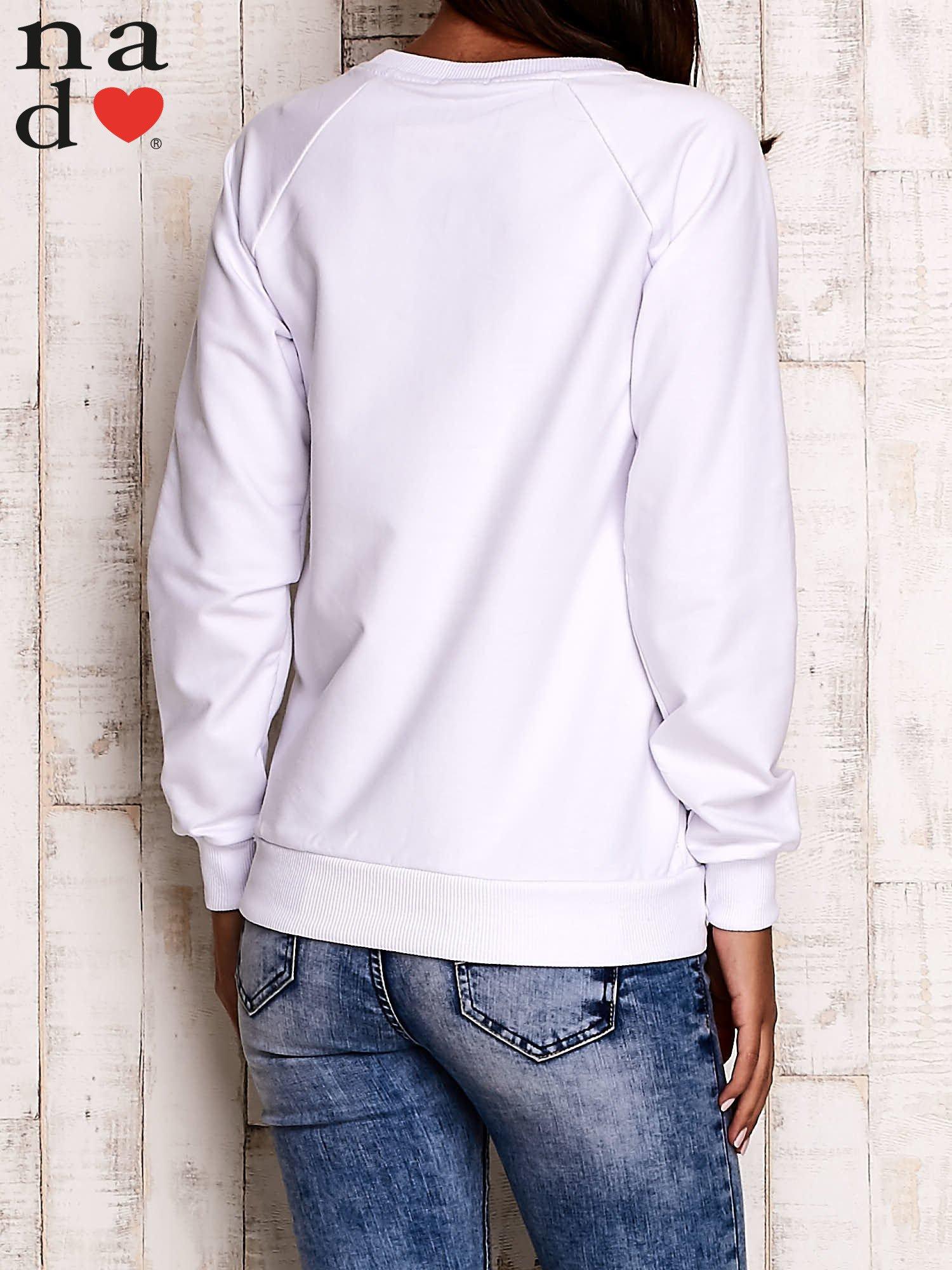 Biała bluza z motywem sowy i łapacza snów                                  zdj.                                  5